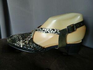 Chaussures-d-039-ete-femme-T-36-034-Damart-034-neuves-en-cuir