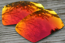Hot Fire Orange Red Mirrored Replacement Sunglass Lenses for Oakley Eyepatch 2