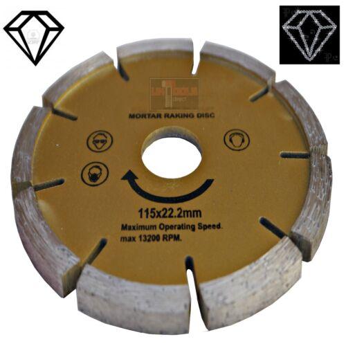 Diamant Mörtel Stein Joint Rechend Scheibe 115x22mm 11.4cmAngle Schleifer Spitz