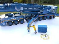 Accessoire Camion, Grue 1/50 Groupe Electrogene Bleu Resine Teintee Bleu