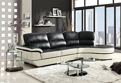 Stylish Sectional Sofa with round Chaise Fiber Sofa Couch Furniture 503630