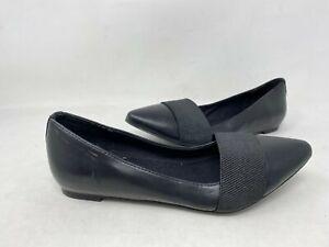 NEW-Vera-Wang-Women-039-s-May-SlipOn-Pointed-Toe-Dress-Flats-Black-112913-196KL-tk
