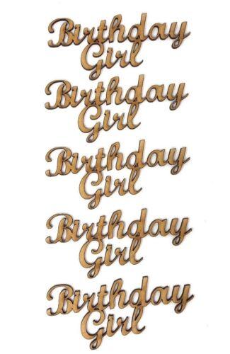 Cumpleaños Chica De Madera Mdf Craft redacción Cumpleaños citar Niño Cumpleaños Ideas