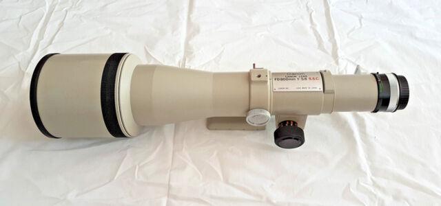 Canon EOS EF u. EF-S DSLR FD 800 mm Objektiv f/5.6 1:5.6 S.S.C. 800mm m. Koffer