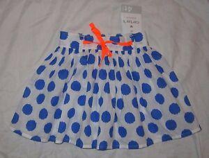 a6f595f6c NWT Toddler Girls CARTER S Playwear Polka Dot Skirt - size 4T