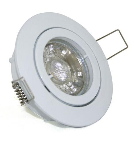 Einbaustrahler 230Volt LED 3W=30W Einbau Hochvolt schwenkbar Bajo K9451 GU10