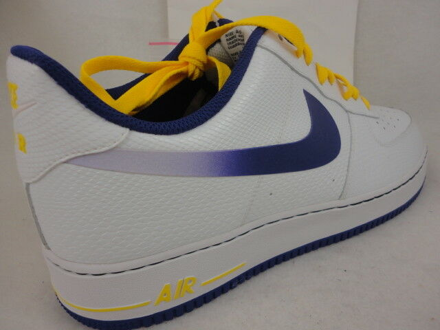 huge selection of dd773 57e3d Nike Air Force 1 White / Court Purple / Tour Yellow 488298 143 Size 14 for  sale online | eBay
