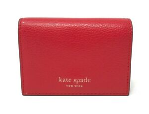 141c27069ee0 Kate Spade Eva Accordion Hot Chili Beige Card Case Small Wallet ...