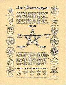 Poster-Page-THE-PENTAGRAM-Pagan-Wicca-Book-of-Shadows-Guide-8-1-2-x11