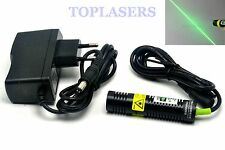 50mW 532nm Green Laser Diode Module Locator Line Unit w/ 5V Adapter & K9 Lens