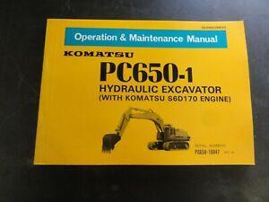 Komatsu-PC650-1-Hydraulic-Excavator-Operation-amp-Maintenance-Manual-SEAM209W00