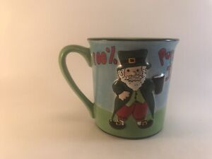 Patricks Day Cute Ireland Flag Dachshunds Dog Irish Coffee Mug 11oz Happy St