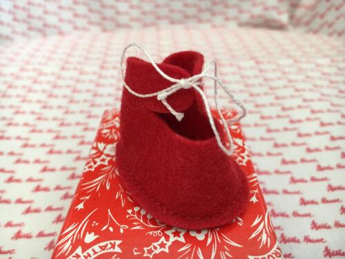 Käthe Kruse Puppen Schuhe 25 Filz rot 0116140 NEU