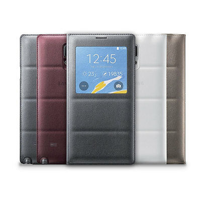 Samsung S-View Flip Case for Samsung Galaxy Note 4 Android Smartphone