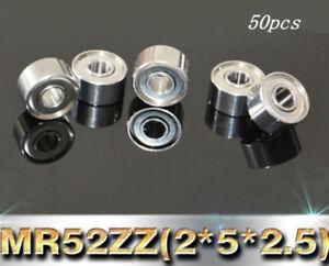 Metal OPEN PRECISION Ball Bearing Bearings 2*5*2 2x5x2 mm MR52 100 PCS