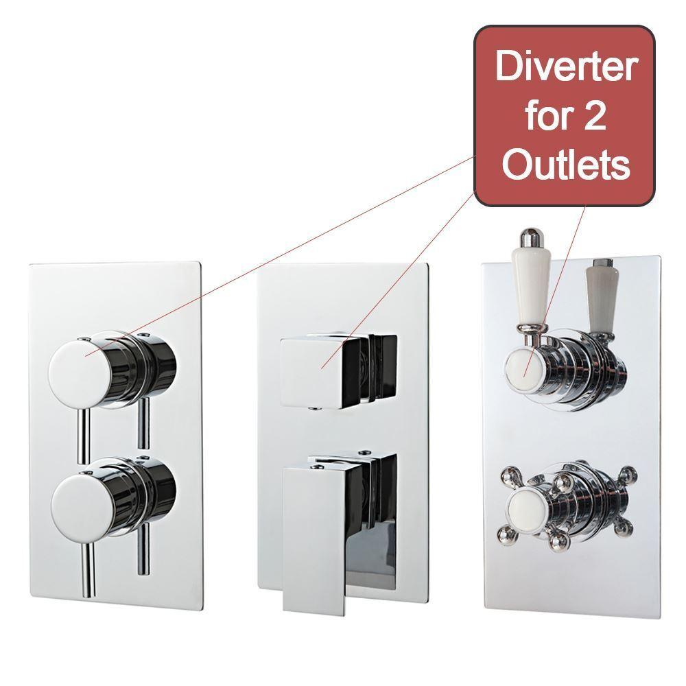 Oculto Válvula termostática de ducha, manijas de 2-función dual