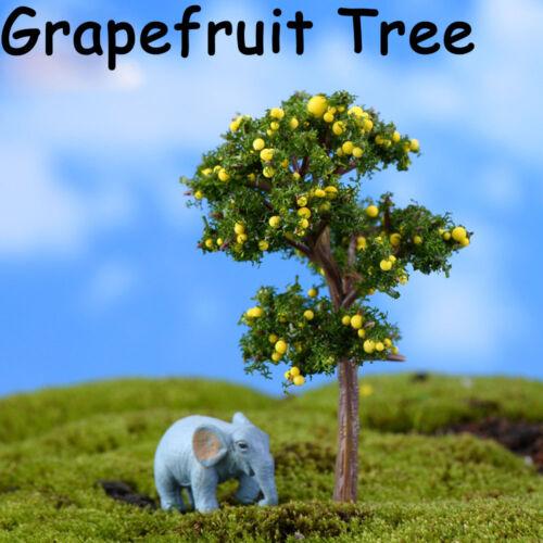 Landscape Decor Simulation Plant Miniature Tree Fake Flower Fruit Tree Figurine