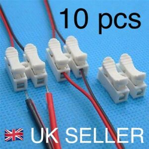 10X Electrical Cable Connectors Quick Splice Lock Wire Terminals Self Locking UK