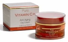 PURE VITAMIN C+ ANTI AGING Day Cream DEAD SEA MINERALS  1.7 oz  NIB