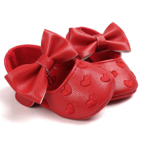 Nice Newborn Baby Girl Bowknot Anti-slip Soft Leater Shoes Sneaker First Walkers