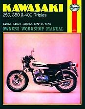 72-79 Kawasaki S1 S2 S3 KH 250 350 400 Triple MANUAL Owners Book Shop