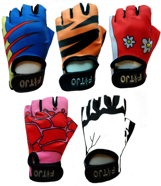 CHILDRENS / KIDS PADDED CYCLING / BICYCLE / BIKE / CYCLE / BMX GLOVES XXXXS-XS
