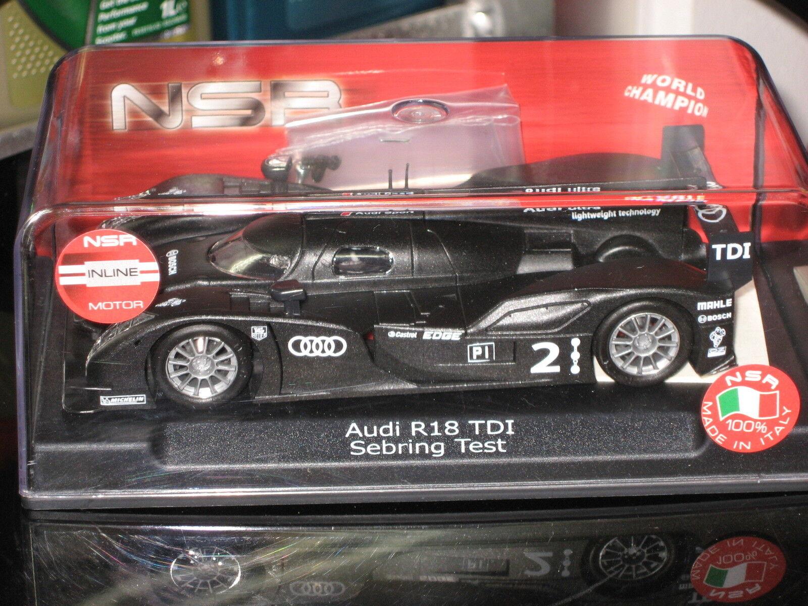 NSR Audi R18  2  Test Car Carbon Sebring
