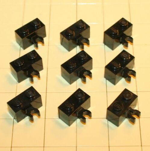 Lego® Technic  9 Steine 1x2 mit Clip  Horizontal  Schwarz 6092876  95820  30237