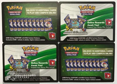 4 x SM Pokemon SENT VIA MESSAGE Unbroken Bonds Online Booster Pack Codes