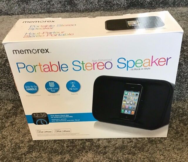 Memorex MA7221 Portable Stereo Speaker System for iPod and iPhone