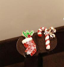 Cute Candy Christmas Earrings Novelty Stud Earrings Party Gift Jewellery 2pcs