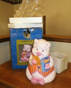 CUTE-RARE-TREASURE-CRAFT-PIG-EATMORE-COOKIE-JAR-310-080-ORIGINAL-BOX-PACKING
