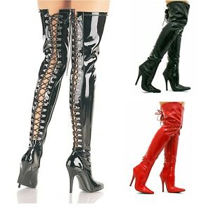 sale online new lower prices new appearance Details about WOMENS LADIES KINKY FETISH SEXY OVER THE KNEE THIGH HIGH  STILETTO HEEL BOOTS