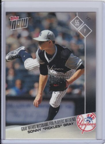 2017 Topps NOW Player/'s Weekend PW-95 Sonny Gray New York Yankees PR 834