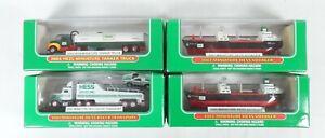 Hess Miniature Collecatble Trucks & Boats - 4 Piece Set