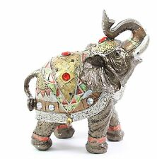 "Feng Shui 6"" Bronze Elephant Figurine Wealth Lucky Figurine Gift & Home Decor"