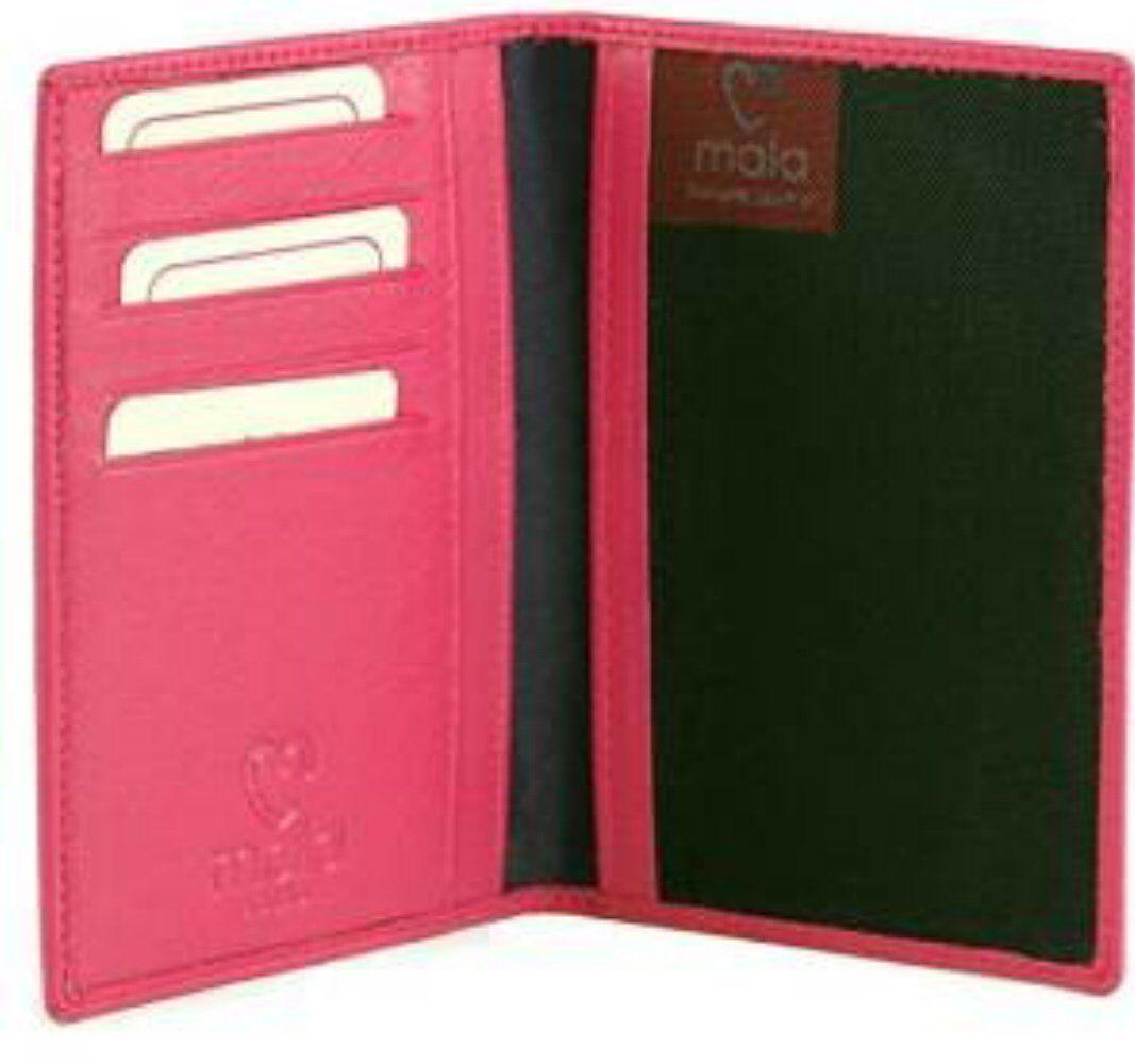 Qualité rose doux mala cuir cuir cuir voyage passeport et porte-carte portefeuille 556 c7c3c9