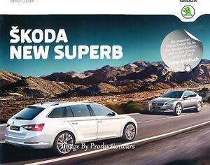 2015 2016 Skoda Superb 68 Page German Car Sales Brochure Catalog Ebay