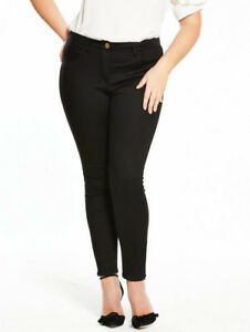 Womens-Skinny-Jeans-Black-Supersoft-V-By-Very-Curve-Stretchy-12-14-16-18-20-22
