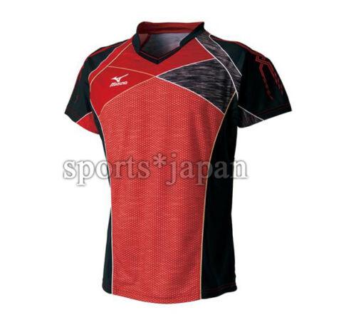 Mizuno JAPAN Table Tennis Ping Pong National Team Jersey Takkyu Shirt Red