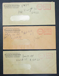 Transamerica-Corporation-Set-of-3-US-Stamps-Covers-Letter-Adv-USA-H-7441