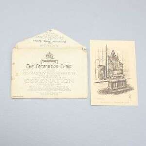 Image Is Loading Coronation Chair Of King George VI Souvenir Card