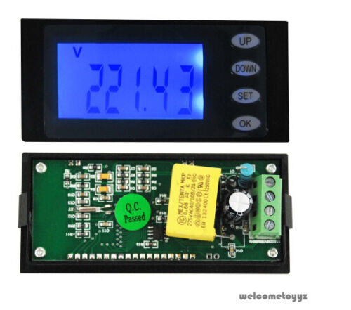 AC DEL Digital Power Meter Monitor Voltage kWh temps Watt énergie Volt ampèremètre nouveau