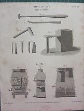 1813 fechado Antiguo impresión ~ Miscelánea archivo Corte ~ Filtros