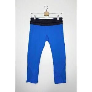 LULULEMON Run Inspire Crop II Leggings Mesh Mid-Rise Cornflower Blue size 6 8