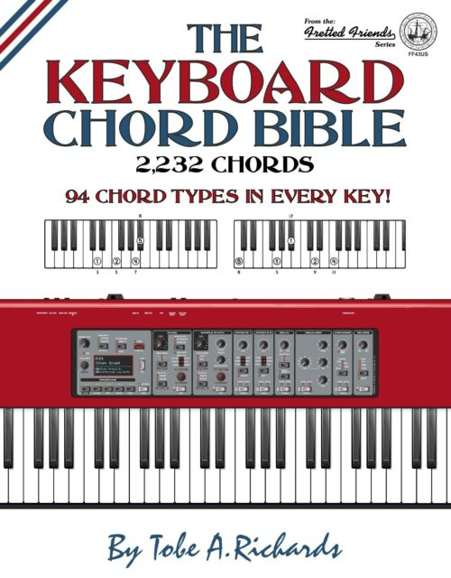 The Keyboard Chord Bible 2 232 Chords | eBay