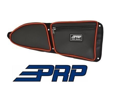 Front Passenger Side Black PRP Seats Door Bag Red for 2014-2017 Polaris RZR