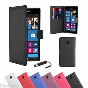 WALLET-FLIP-PU-LEATHER-CASE-COVER-For-Nokia-Lumia-620-FREE-SCREEN-PROTECTOR