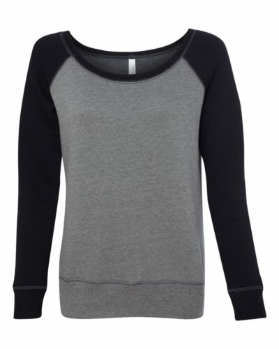 7501 Bella Mia Triblend Sponge Fleece Slouchy Wideneck Sweatshirt