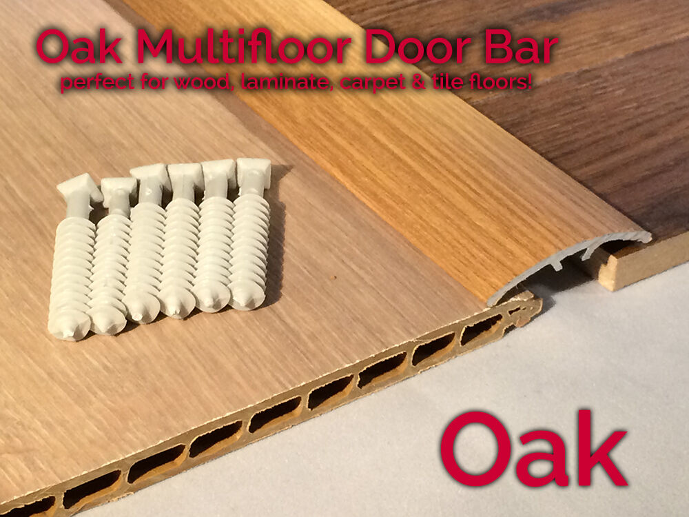 Dural Multifloor Door Bar Threshold Strip Cover Plate Laminate Floor 0 9m Oak